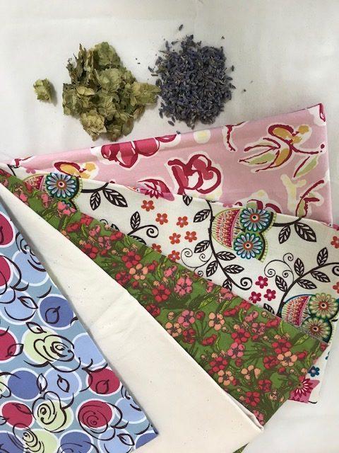 Fabric herb pillow