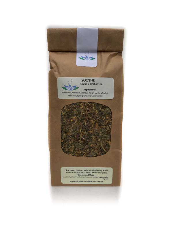 Soothe and cleanse organic herbal tea